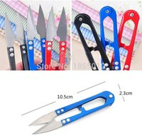 Wholesale Beading Scissors - High Quality U Shape Clippers Trimming Scissors Sewing Tool Embroidery Snips Beading Thrum Thread Cutter Nippers Mini Scissors