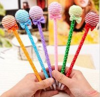 Wholesale Christmas Ball Pens - Cute Lollipop Pen Ball point Pen Office Supplies Stationery Changeable Shape Rollerball Pens Childrens Toys Christmas Gift
