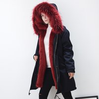 Wholesale Ms Hoodie - MS MR Faux Fur Parkas Coat Winter Jacket Hoodies Outwear Overcoat Windbreaker Super Warm Thick Snow Clothes New Fashion 2017