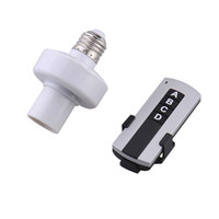 Wholesale E27 Remote Control Holder - Wholesale Durable E27 lamp base Screw Wireless Remote Control Light Lamp Bulb Holder Cap Socket Switch New On Off Hot Sale
