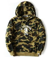 Wholesale Slimming Bamboo High Quality - 2018 High quality Men's full zipper shark hoodie camouflage Army Military fleece hoodies and sweatshirts winter mens camo jacket