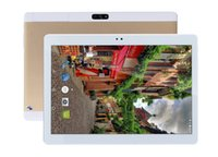 Slim android Prix-MaiTai 10.1 pouces Tablet Pc Android 7.1 Octa Core 64G ROM 4G RAM Comprimés Pc 2560 * 1600 WIFI 3G Appel GPS IPS Metal Or 10 9 8 7