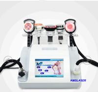 Wholesale Liposuction Bio - 5 heads 40KHZ ultrasonic liposuction RF radio frequency vacuum bio red light led light body slimming weight loss facial care skin tightening