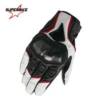 Wholesale Navigation M - Wholesale- Motorcycle Gloves Leather Men Screen Touch Navigation Motocross Sports Glove Cycling Racing Gear Moto Motocicleta Guantes Luvas