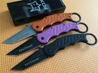 Wholesale Fox Style - Promotion! Hunting Camping Survival Knife 3 Styles FOX Karambit Folding Claw Knife FOX DART 440C Blade 58HRC Sharp Training Knife