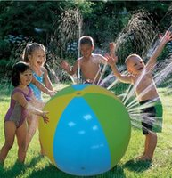 Wholesale play balls kids - Inflatable Beach Water Ball Outdoor Inflated Toy For Baby Kids ater Spray Balloon Outdoors Play In The Water Beach Ball KKA1473