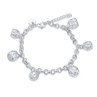Wholesale Cool Cheap Jewelry - Hot Charm Bracelet 925 Silver Fashion Jewelry For a woman cool birthday gift High-quality cheap wholesale
