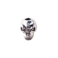 Wholesale String Lanyards Rings - Wholesale-Skull beads For Paracord Knife Lanyards,keychain Ring Buckle DIY String outdoor paracord accessories Pendant Skull beads Camping