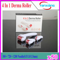 Wholesale Remove Eye Bags - Sets Microneedle Needle roller Acne pits Electric microneedle Remove eye bags Remove acne pits 4 in1 derma roller high qualit 50pcs YX-GL-01