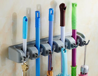 Wholesale Insert Tool Holders - New Kitchen Wall Mounted Mop Holder 5 4 3 Position Kitchen Storage Mop Brush Broom Organizer Hanger Tool