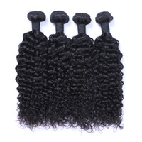 Wholesale Pure Jerry - Peruvian Human Remy Virgin Hair Jerry Curly Hair Weaves Natural Color 100g bundle Double Wefts 4Bundles lot Hair Extensions