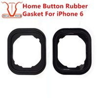 Wholesale Wholesale Bar Keys - Home Button Rubber Gasket For iPhone 6 6G I6 Key Keypad Rubber Gasket Gadget Sticker Adhesive Holder Cap Pad Ring Spacer Replacement Parts