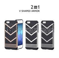 Wholesale Types Pc Case - The New For iphone 7 v-type armor shell For Apple 7 TPU + PC two-piece anti-crash shell DHL free shipping