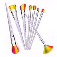 Wholesale Makup Eye Shadow - 8PCS Foundation Eyebrow Eye Shadow Powder Blush Blusher Cosmetic Concealer Brushes Set Kit Makup Tool