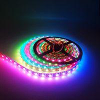 Wholesale Pcb Digital - 5V WS2812b RGB Led Strip Light 30LEDs m 60LEDs m Black Or White PCB 5050 Waterproof IP67 WS2812 IC Digital Light Dream Color