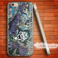 iphone 5s batman silikon kılıf toptan satış-Fundas Comics Joker Batman Yumuşak Temizle TPU Kılıf iphone 6 6 S 7 Artı 5 S SE 5 5C 4 S 4 Durumda Silikon Kapak.