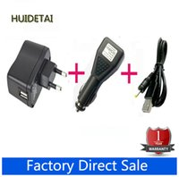 """Wholesale Slim Port Adapter - Wholesale-EU Plug Wall Charger Adapter 5V + DC Car Charger USB Port + Charging Cable for 7"""" Huawei Ideos S7 Tablet S7 Slim Mediapad"""