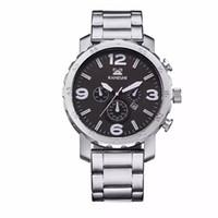 Wholesale Sport Watchband Quartz Wristwatch - Luxury Men's Watches Quartz Watch Men Fashion Wristwatches Stainless Steel Watchband Date Dual Time Display Military Watches Men