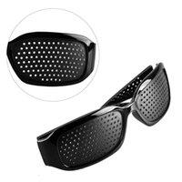 Wholesale Plastic Pinhole Glasses - Black Unisex Vision Care Pin hole Eyeglasses Pinhole Glasses Eye Exercise Eyesight Improve Wholesale Plastic FREE SHIPPING 0612003