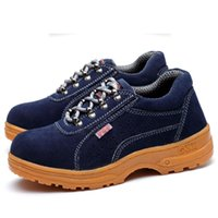 Wholesale Anti Puncture - Men Suede Cowhide Boot Work Shoe Dichotomanthes Shoes Safety Protective Shoes Breathable Shock absorption Wear-resistant Anti puncture Shoe