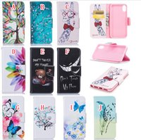 Wholesale Teddy Bear Stand - For Iphone X LG K5 K4 V30 Q6 G6 MINI Cartoon Wallet Leather Pouch Case Teddy Bear Tree Don't Touch My Phone Deer Flower Stand TPU Card Cover