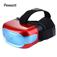 Wholesale Laser Cpu - Wholesale- 2017 New Arrival Pewant VR All In One Virtual Reality Glasses 2D 3D Headset With Tablet PC CPU Quad Core DDR3 Anti Blue Laser