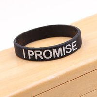 Wholesale I Promise - New I Promise bracelet Basketball Sports Wristband Silicone Gym Fitness Power Bands Energy Bracelets For Man Women jewelry Gift