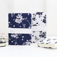 Wholesale Diary Book Flower - Wholesale- Vintage Romatic Flower Floral Fabric Cover Travel Journal Blank Graffiti Book Diary Notebook Stationery Office School Supplies