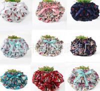Wholesale Green Infant Diapers - Hot! Infant Princess Girls Underwear Baby Nappy Diaper Training Shorts Pants Flower Bowknot Floral Photography Babies PP Wear Briefs A6337