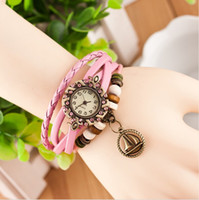 Wholesale Sailing Watches - Han edition retro fashion bracelets table Prepare a list of the sailing hand catenary restoring ancient ways Leather ladies watch students w
