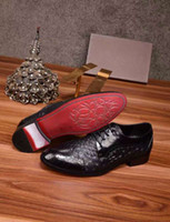 Wholesale Beating Dress - Luxury Fashion New Mens Dress Leather Shoes Beaten grain Buckle Wedding Party Business Genuine Black Shoes