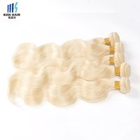 Cheveux Ombre De 14 Pouces Pas Cher-613 Extensions Blonde 4 Bundle Deals Body Wave Virgin Hair 12 - 30 pouces Péruvien Brésilien Remy Human Hair Weave Bundle