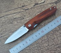 Wholesale Knife Enlan - Enlan Bee M028 Pocket EDC Folding Knife Blade Wood Handle Liner Lock