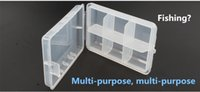 Wholesale fishing lure store resale online - Delicate White Plastic Fishing Tackle Boxes Compartments Storage Hook Case Outdoor Pesca Fishing Box Lure Bait Storing Tool