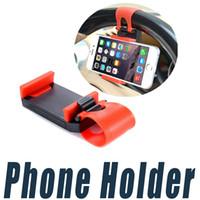 держатель для крепления на велосипеде для iphone оптовых-Рулевого Колеса автомобиля Держатель Телефона Клип Автомобильный Велосипед Крепление Стенд Кронштейн Универсальный Для iPhone 6 6 S Plus 5 Сотовый Телефон GPS