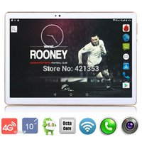 Wholesale Laptop Tablet Gps Wifi - Wholesale- DHL Free Shipping 10 inch Tablet PC Octa Core 4GB RAM 32GB ROM Wifi OTG 4G LTE Android 6.0 Tablet Laptop GPS Pad tablet pcs 10.1