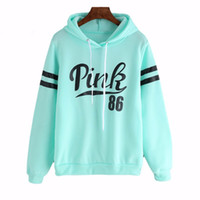 Wholesale New Women S Sport - Pullover New Women Hoodies Spring Sportswear Love Pink Letter Print Cotton sport suit Causal Terry Sweatshirts vs harajuku tracksuit