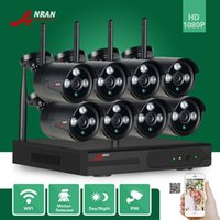 cámara de seguridad 8ch hdmi al por mayor-ANRAN P2P HDMI 8CH 1080P WIFI NVR 2MP al aire libre 3 Array IR impermeable inalámbrica cámara IP CCTV Video Security Surveillance System