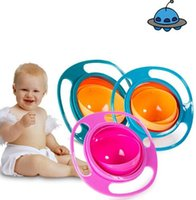 Wholesale Universal Gyro Bowl Wholesale - Universal Gyro Bowl Baby Feeding Dishes Cute Toy Baby Bowl Non Spill Gyro Universal 360 Rotate Spill-Proof Dishes Children's Baby Tableware