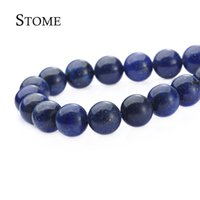 Wholesale Natural Deep Blue Agate Round Loose Beads Gemstone MM For DIY and Jewelry Making S Stome