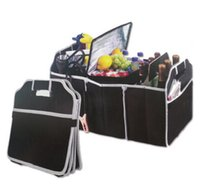 Wholesale Boot Holders - Useful Car Boot Organizer Boot Stuff Food Storage Bags Trunk Organiser Automobile Stowing Tidying Interior Accessories Foldable