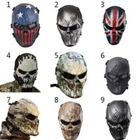Wholesale Military Films - Camouflage Hunting Accessories Masks Phantom Military Tactical Outdoor Wargame CS Paintball Airsoft Skull Party Mask Full Face