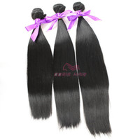 Wholesale Wholesale Luxury Products - Wholesale retail straight Hair Weft Fiber natural color 1B High Temperature luxury synthetic hair weave bundles products