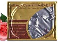 контрольная маска для лица оптовых-(Отбеливание увлажняющий против морщин, Масло-контроль пор редуктор фольги пятна Кристалл коллаген гель маска для лица Кристалл Маска