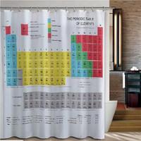 Wholesale Bath Tables - Wholesale- Bath Curtain Periodic Table Polyester Bathroom Waterproof Shower Curtain Bathroom Products Curtain A5