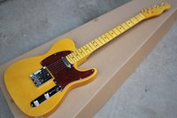 Wholesale Basswood Guitar Body - Custom Shop '52 American Deluxe Yellow Telecaster Vintage Maple Neck Tuners Tele Electric Guitar Butterscotch Blonde Tortoise Red Pickguard