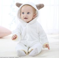 Wholesale Cute Babies Panda Costume - New Cute Animal Panda One Piece Long Sleeve Cotton Newborn Baby Hooded Romper Baby Costume Clothing Clothes