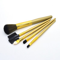 Wholesale Eyeshadows Set - 5Pcs set Professional eye Makeup Brushes Set top goat and synthetic hair Cosmetics Face Eyeshadows Brush Kit