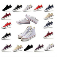 Wholesale Low Top Canvas Shoes Wholesale - 2017 Hot sell 35-45 New Unisex Low-Top Adult Women's Men's Canvas Running Shoes 13 colors Laced Up Casual Shoes Sneaker shoes