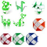 Wholesale Intelligence Games Kids - Smooth magic snake shape magic cube Children intelligence educational toys puzzle magic stick kids gifts professional rubik cube game